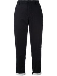 Ann Demeulemeester Grise Tapered Cropped Trousers Black