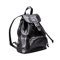 Maxwell Scott Bags Black Leather Backpack For Women