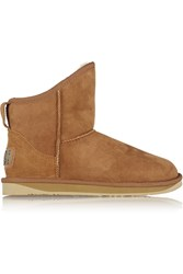 Australia Luxe Collective Cosy Shearling Lined Suede Boots Brown