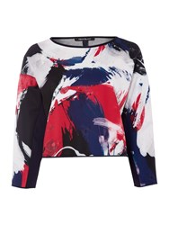 Pennyblack Retta Printed Long Sleeve Top Multi Coloured