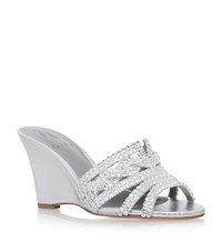 Gina Syracuse Wedge Sandals Female Silver