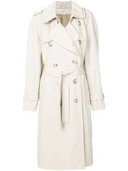 Misbhv Double Breasted Trench Coat Nude And Neutrals