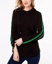 Inc International Concepts Racer Stripe French Terry Hoodie Created For Macy's Black