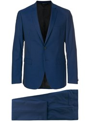 Tonello Slim Fit Two Piece Suit Blue