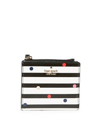 Kate Spade Adalyn Dot And Striped Mini Wallet Multi Colored