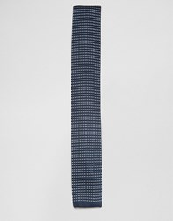 Selected Homme Knitted Tie Navy