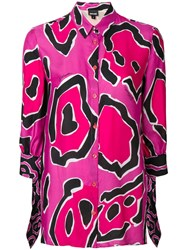 Just Cavalli Geometric Print Blouse Pink
