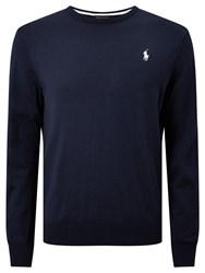 Polo Ralph Lauren Golf By Long Sleeve Crew Neck Sweater French Navy