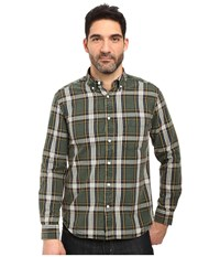 Vintage 1946 Oxford Washed Plaid Long Sleeve Woven Shirt Hunter Men's Long Sleeve Pullover Green