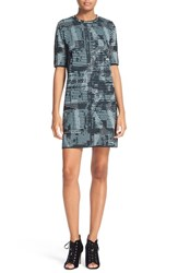 M Missoni Women's Metallic Openwork Shift Dress