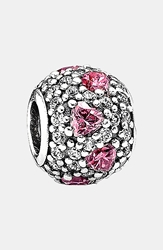 Pandora Design 'Shimmering Heart' Pave Bead Charm Sterling Silver