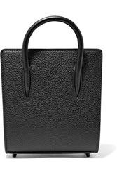 Christian Louboutin Paloma Nano Textured And Patent Leather Tote Black