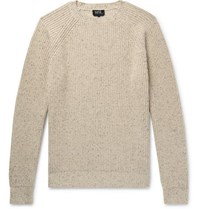 A.P.C. Ribbed Knit Sweater Neutral