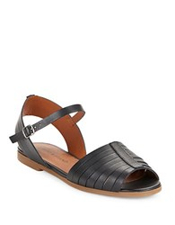 Lucky Brand Channing Huarache Leather Sandals Black