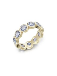 Temple St. Clair Classic Color Sapphire And 18K Yellow Gold Eternity Band Ring