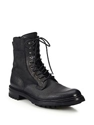 Rag And Bone Spencer Leather Commando Boots Black