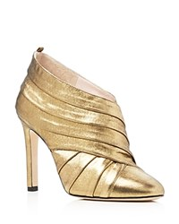 Sarah Jessica Parker Sjp By Echo Metallic High Heel Booties Karat Gold