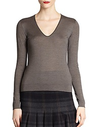Akris Silk And Cashmere Knit Pullover Grey