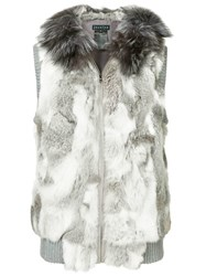 Jocelyn Jotvlhr3 Grey Furs And Skins Rabbit Fur White