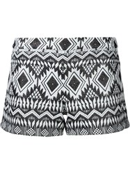 Alice Olivia Alice Olivia Aztec Patterned Shorts White
