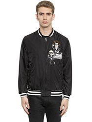 Dolce And Gabbana Sequin Designers Patch Nylon Bomber