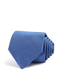 Eton Of Sweden Oval Classic Tie Navy Light Blue