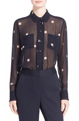 Women's Kate Spade New York Polka Dot Silk Chiffon Blouse