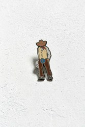 Urban Outfitters Pintrill Cowboy Pin Tan
