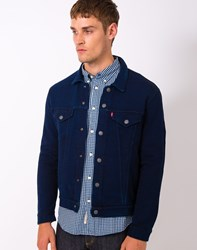 Levi's French Terry Trucker Jacket Navy