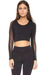 Michi Garnet Crop Top Black