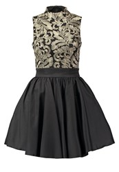 Chi Chi London Sapphire Cocktail Dress Party Dress Black Gold