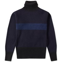 Nigel Cabourn Striped Rollneck Blue