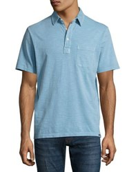 Faherty Short Sleeve Relaxed Polo Shirt Blue