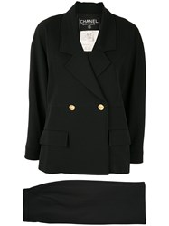 Chanel Pre Owned Double Breasted Skirt Suit 60