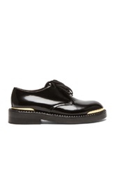 Marni Lace Up Leather Oxfords In Black