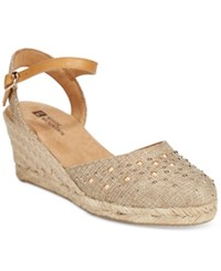 White Mountain Saltwater Espadrille Wedges A Macy's Exclusive Style Women's Shoes