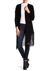 Acrobat Fringe Trim Knit Cardigan Black