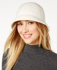 August Hats Chenille Cloche Ivory