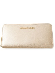 Michael Michael Kors Logo Wallet Nude And Neutrals