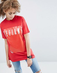 Asos T Shirt With Skate Print Red
