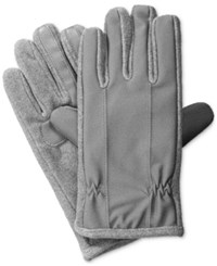 Isotoner Signature Men's Stretch Tech Gloves Black Grey