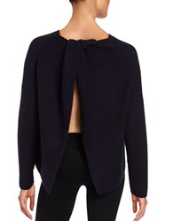 French Connection Twisted Split Back Sweater Blue