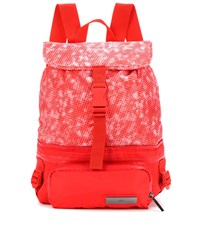 Adidas By Stella Mccartney Printed Backpack Red