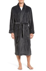 Nordstrom Men's Terry Robe Dark Grey Black