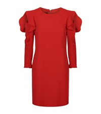 Pinko Ruffle Sleeve Dress Female Red