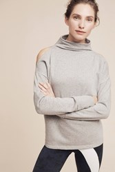 Anthropologie Open Shoulder Keystone Sweatshirt Grey