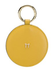 Tila March Round Handbag Mirror Yellow