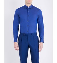 Gieves And Hawkes Tailored Fit Cotton Shirt Navy