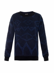 Baja East Ikat Graffiti Intarsia Cashmere Sweater