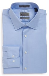 John W. Nordstrom Men's Trim Fit Dress Shirt Blue